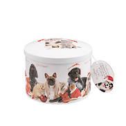 CHRISTMAS CAT & DOG ROUND TIN (6)