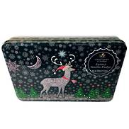 CHRISTMAS REINDEER SNOW TIN (6) VANILLA FUDGE