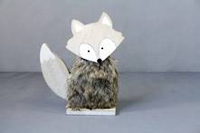 WOOD AND FUR FOX LARGE (6)