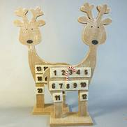 WOODEN DEER ADVENT CALENDER (6)