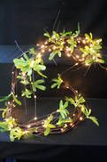 180CML PINE AND BEAD LIGHT UP GARLAND