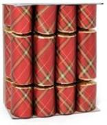BOX8, COCKTAIL CRACKERS - RED TARTAN (6)