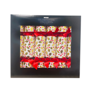 BOX6, 33CM DELUXE HOLLY LEAF CRACKERS (6)