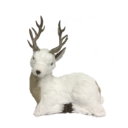 24CMH WHITE LAYING DEER GOLD ANTLERS