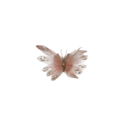 BLUSH PINK FEATHER BUTTERFLY WITH JEWEL