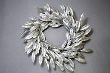 SILVER LEAF WREATH - 55CMD