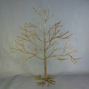50CMH FROSTED NATURAL WIRE TREE