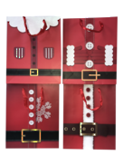 DOZEN - 4 ASSORTED -  MEDIUM SANTA BELT CARRY BAGS