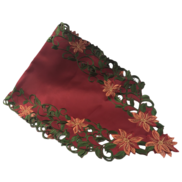 RED POINSETTIA RUNNER - RED FABRIC INSERT