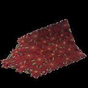 RED FULL POINSETTIA FLOWER RUNNER