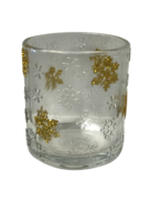 GOLD SNOWFLAKE VOTIVE HOLDER (6)