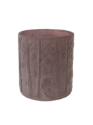 LIGHT PURPLE FROSTED TREE DEER VOTIVE (6)