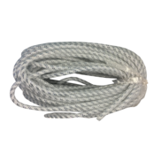 WHITE/SILVER STRETCHY TUBE RIBBON (6)