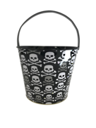 HALLOWEEN SKULL & CROSSBONES BUCKET