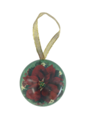 POINSETTIA METAL HANGING CHRISTMAS BALL (12)