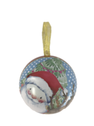 SANTA AND DEER METAL HANGING BALL (12)