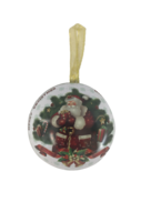 SANTA ND TREE METAL HANGING BALL (12)