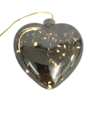 PLATINUM GLASS LED HEART