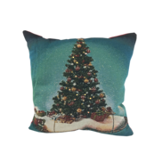 CHRISTMAS TREE AND TRAIN CUSHION