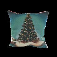 CHRISTMAS TREE AND TRAIN CUSHION