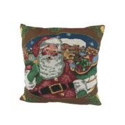 SANTA AND SLEIGH, HOLLY SURROUND  CUSHION