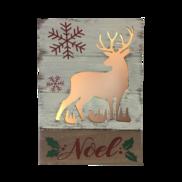 SNOWY DEER 'NOEL' LIGHT UP BOX