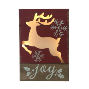 SNOWY DEER 'JOY' LIGHT UP BOX
