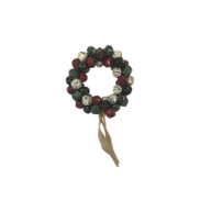 SMALL BROWN/RED/GREEN/WHITE BELL WREATH