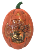 ORANGE PUMPKIN BLOWING SNOWGLOBE