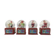 SET 4, BOX BASE SNOWGLOBES