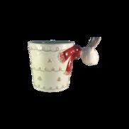 CERAMIC REINDEER CUP