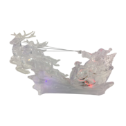 LED ACRYLIC SANTA AND SLEIGH