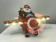 SANTA IN PLANE WITH LED PROPELLOR