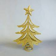 22CMH GOLD GLITTER TREE, TREE TOPPER (6)
