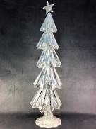 80CMH WHITE/SILVER METAL TREE
