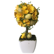 40CMH YELLOW/GREEN TOPIARY EASTER POT