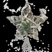 RATTAN GREY TREE TOPPER STAR