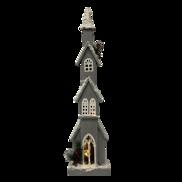 76CMH GREY 4 STORY CHURCH WITH LIGHT