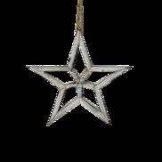 30CMD WHITE WOODEN STAR HANGING