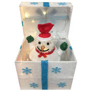 POP UP SNOWMAN IN WHITE BOX