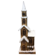 4 LEVEL WOOD AND SNOW CHURCH LED