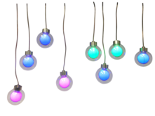 8 LED LARGE COLOUR CHANGING HANGING BALLS
