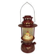 RED LANTERN SNOWGLOBE WITH SNOWMAN