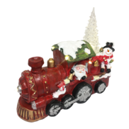 RESIN SANTA AND TRAIN