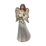 31CMH RUSTIC CERAMIC WHITE ANGEL