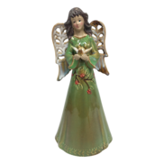 31CMH RUSTIC CERAMIC GREEN ANGEL