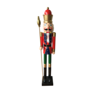 TALL WOODEN NUTCRACKER WITH CROWN