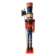 TALL WOODEN NUTCRACKER WITH AXE