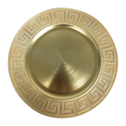 CHARGER PLATE - GOLD KEY