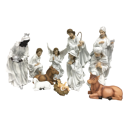 SET11 WHITE / SILVER NATIVITY